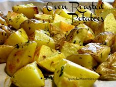 Simple Oven Roasted Potatoes!  These are amazing and super easy!