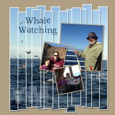 digit scrapbook, layout idea, studio layout, whale watching, scrapbook idea, scrapbook layout, digit studio, whale scrapbook, yapha mason