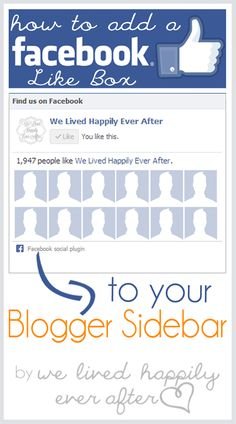 How to Add a Facebook Like Box (and an HTML Widget to your Blogger)