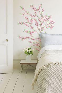 Peach Branch Wall Decal//