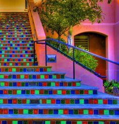 Stairway color.  hap