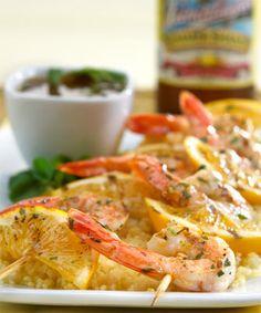 Leinenkugel's Summer Shrimp Skewers Recipe {via JustLuxe}