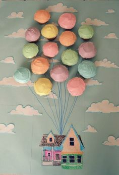 "Adorable theme for a baby nursery....loved this movie!  ""Up."""