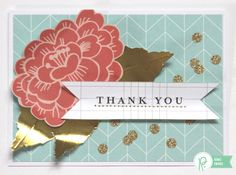 A trio of Thank You cards by @reneezwirek using the #JHHomeMade collection by @PebblesInc and @tatertotsjello