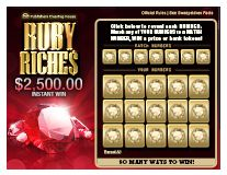 Scratch Off Game $2,500.00 Ruby Riches