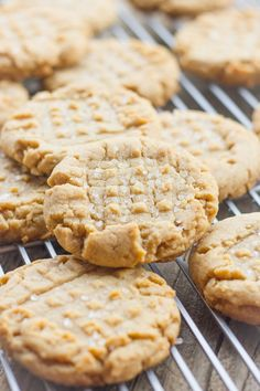 brown butter peanut butter cookies (soft and chewy)
