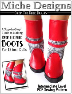 "Over The Knee Boots 18"" Doll Boots"