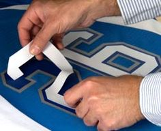 Sizing for numbers and letters for jerseys and t-shirts. Heat Printing Sizing Tips | Stahls'