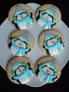 Winter Penguin Cookies  Penguin