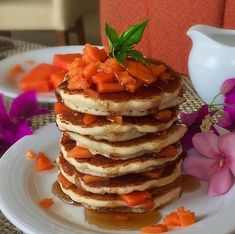 Papaya hotcakes with
