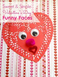 Valentine's Day Funny Faces Craft