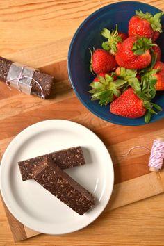 Raw Vegan Chocolate Cranberry Energy Bars