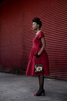 Red on red, with style NYC
