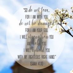 So do not fear, for