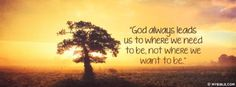God Always Leads Us - Facebook Cover Photo - My Bible