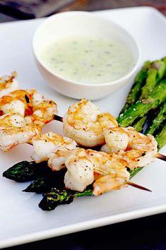 Grilled Shrimp with Lemon Parmesan Aioli
