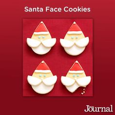 Too cute, right? And, they're pretty simple to make—the most delicious combination for Christmas #Cookies! Repin and give 'em a go? (Santa Face Cookies)