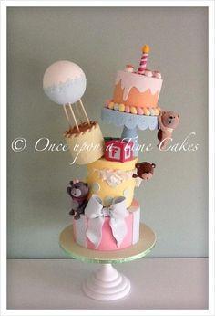 Wonky Teddy Cake