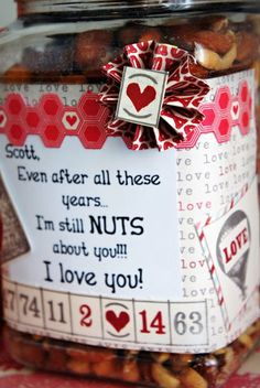 Click Pic for 40 DIY Valentine Gift Ideas for Boyfriend & Husbands - Still Nuts 4 U