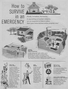 Defense Action Program, 1958. Intended as a bomb shelter, but it will be just as handy for the zombie apocalypse.