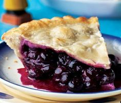 Pie Porn: Cape Cod Blueberry Pie. Too pretty to eat? Nah. #SelfMagazine