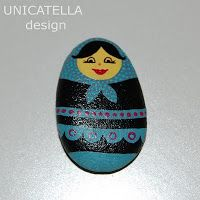 Painted stone Matrioshka