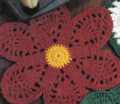 Poinsettia Flower Hot Pad