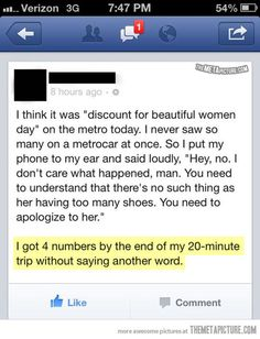 smart guy! too funny!