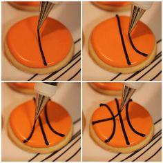 How to make basketball sugar cookies.