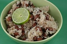 Slow cooker coconut red beans and rice