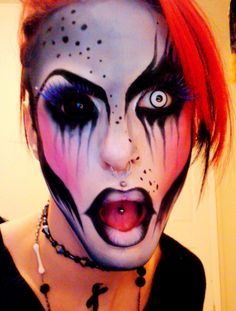 [  http://www.pinterest.com/toddrsmith/boo-who-adult-halloween-ideas/  ]  - Hand Picked Halloween ideas - crazy makeup look