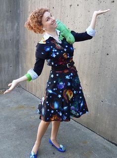 Miss Frizzle from the Magic Schoolbus.  Doing this next year.