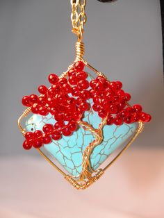 Tree of life - Love this design but not crazy about the red beads, would change the colour.