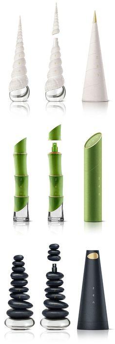 zen perfumes packaging