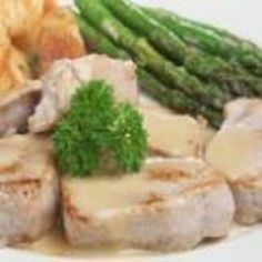 Pork Tenderloin-Mustard Sauce-This is an easy and quick 15 minute total time recipe. Only 5 minutes to assemble and 10 minutes to cook. Tenderloin sliced and served with a delicious Dijon mustard sauce for the centerpiece of your meal. Add your favorite vegetable to finish it off.It is is also a healthy WeightWatchers (4) PointsPlus recipe. Low in sugars (1.17g), low carbs (3.2g), low cholesterol, low sodium, and a diabetic recipe also. Makes 4 servings.