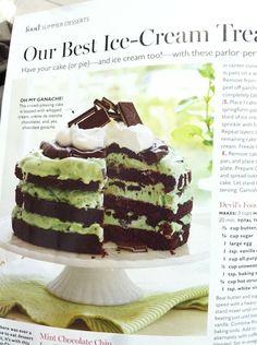 no-bake avocado mint chocolate cake
