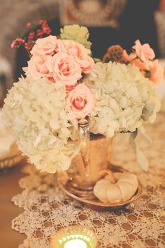 Our vintage fall wedding on pinterest birdcage veils white pumpkins