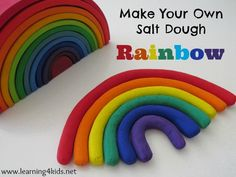 Make Your Own Salt Dough Rainbow