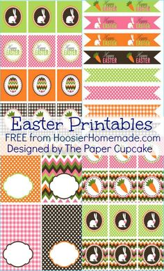 tag, easter printables, easter parti, free printables easter