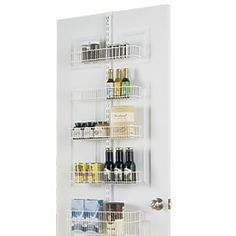 White elfa Door & Wall Rack Solution - The Container Store