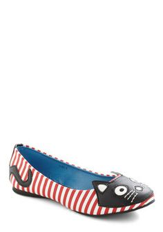 Up Your Alley Cat Flat, #ModCloth