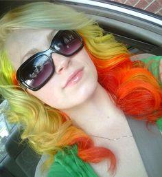 hair like fire.