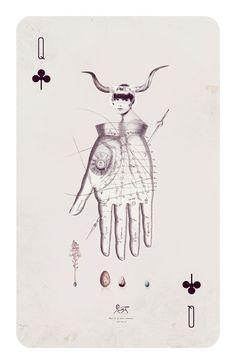 Playing Cards by Anna Pietrzak, via Behance