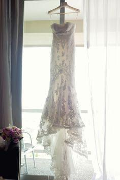 Pronovias Balira lace wedding dress