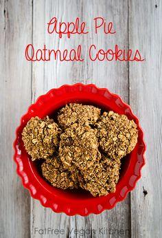 Apple Pie Oatmeal Cookies - no gluten, no fat, no sugar, no soy. All delicious!