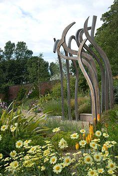 landscap contemporari, artist sculptur, yard art, focal point, garden sculptures, andi sturgeon, sculptur idea
