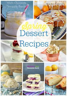 20 delicious desserts for Spring! #dessert #recipes #delicious #recipe