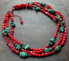 Coral turquoise necklace.