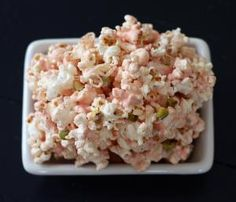 Pink Chocolate Popcorn with Pistachios