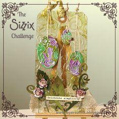 The Sizzix Challenge   Dragonfly Pond Tag by Anna-Karin Evaldsson
